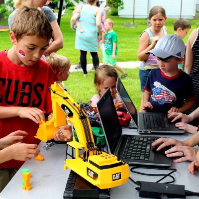 We do Summer Camps for Kids and sometimes we do free STEM events these kids had a lot of fun learning STEM