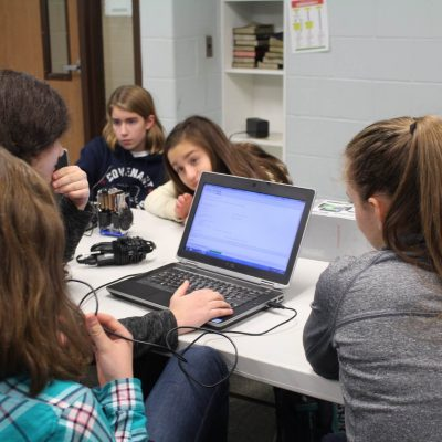 These teens are in our computer class where they learn to code Robotics for Kids in Python or C using Microcontrollers.