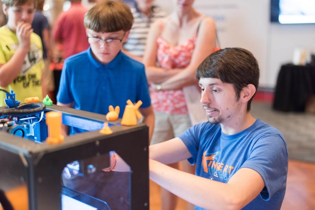 People at Maker Faire Detroit could use Kinvert laptops and 3D Printer to make their own creation