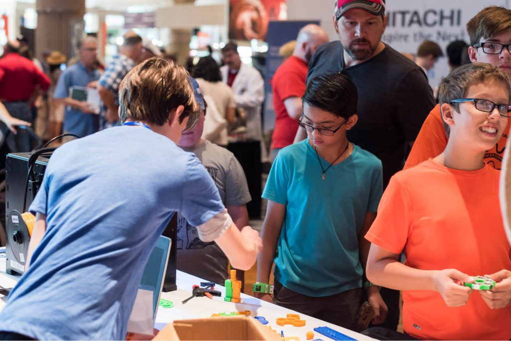 Kinvert taught about 3D Printing and more at Maker Faire Detroit this year.