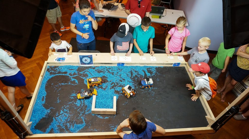 Kinvert Students made innovative Construction Robots and Army Tank Laser Tag for Maker Faire Detroit