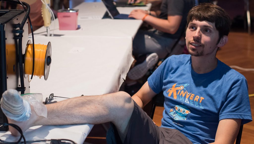 Maker Faire Detroit setup Kinvert founder dislocated ankle but the show goes on
