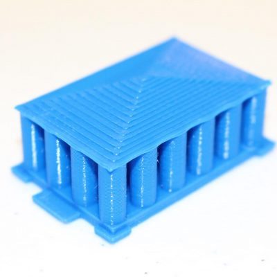 3D Printed Greek Temple made in Kinvert STEM Class for Kids and Teens