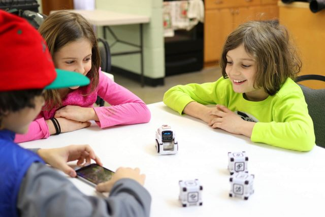 In Robotics for Kids and Teens Kinvert students use the Anki Cozmo SDK and Code Lab to Program a Robot Kit