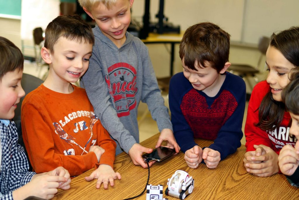 In Kinvert's Robotics for Kids Program Anki Cozmo with SDK and Code Lab