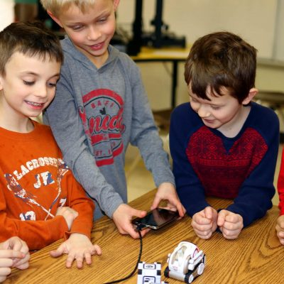 In Kinvert's Robotics for Kids Program Anki Cozmo education with SDK and Code Lab