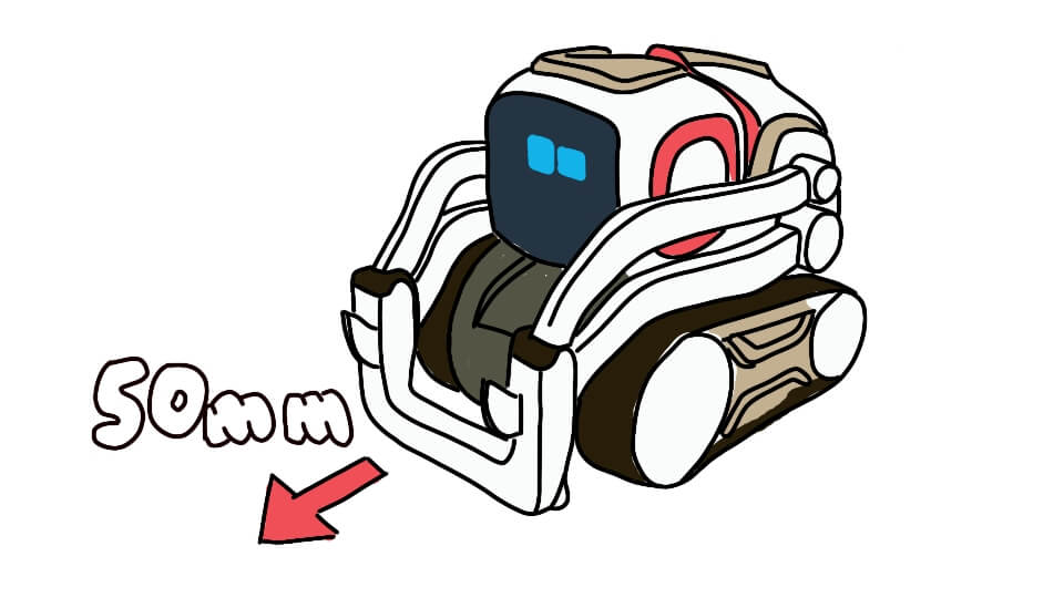 Let Cozmo drive straight by using cozmo.robot.Robot.drive_straight() in Python with Kinvert
