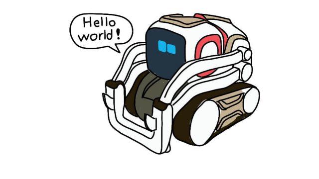 Using the anki cozmo sdk kinvert uses the speaker to say hello world using cozmo.robot.Robot.say_text cozmo hello world