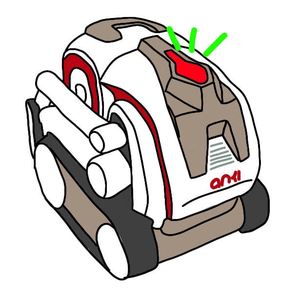 Cozmo backpack lights with set_all_backpack_lights command by Kinvert