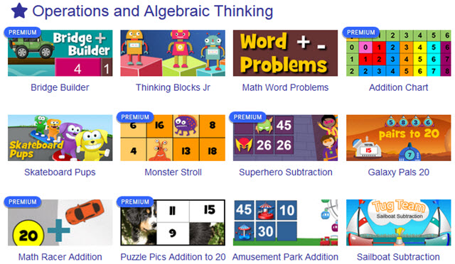 Math Playground has a lot of free online math games